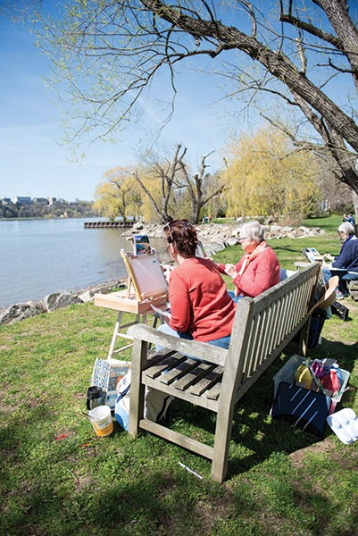 Plein air painting with teacher Emmett McLaughlin at the Garrison Art Center - CHRISTINE ASHBURN
