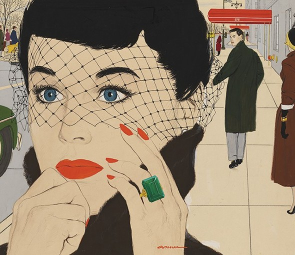 How Do You Love Me, gouache on illustration board, 1950 - MAC CONNER