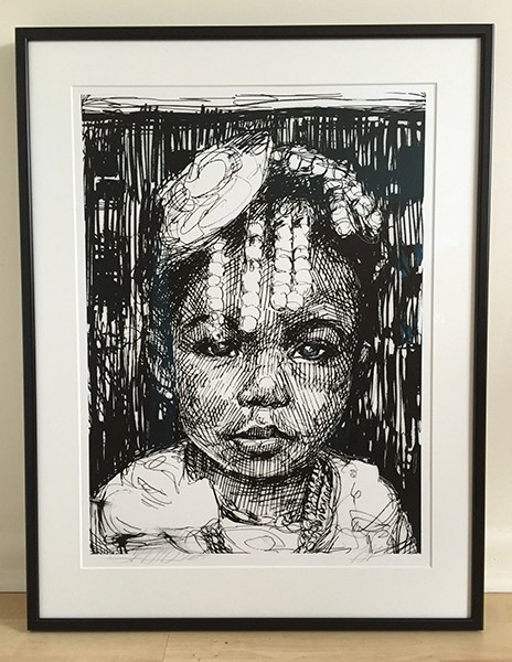 """Amani,"" silkscreen, Gaia. - COURTESY OF O+ FESTIVAL"