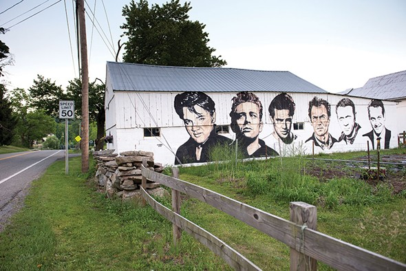 A mural by Rocco Manno at the Manno Dairy Farm in Warwick. - CHRISTINE ASHBURN