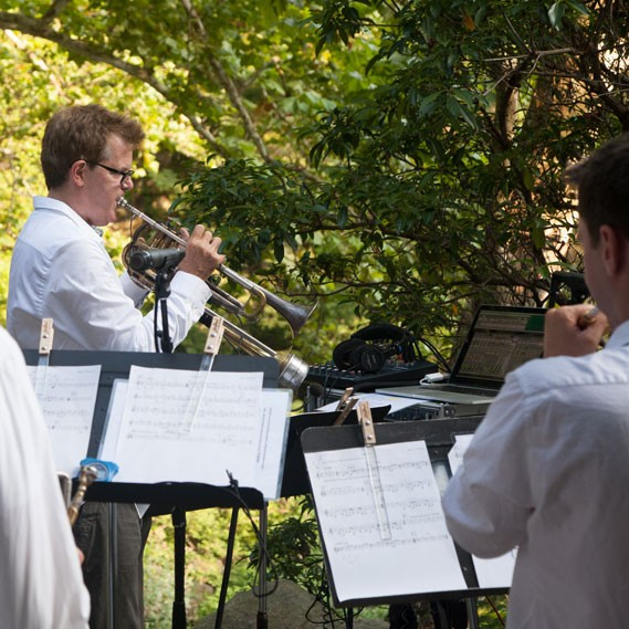 The trumpeter and composer returns with his brass ensemble band to Manitoga on October 1.