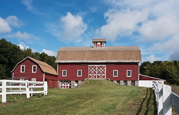 "Narine's Dutch barn—the former horse stables of the ""Wishing Well Ranch."" She hopes to expand ""Nimala's Kitchen Cooking School"" into the 1,200 square-foot space as well as use it for weddings and other events. - DEBORAH DEGRAFFENREID"