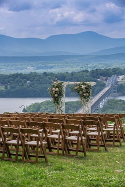 A wedding planned by Cathy's Elegant Events at Olana State Historic Site. Photo by Molinski Photography
