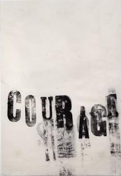 "Tatana Kellner, Couragre, monoprint, 19"" x 13"", 2016"