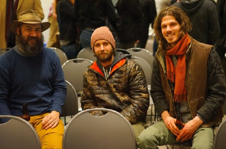 Will Soter from Upstate Adventure Guides with Jesse Brown and Eric Archer of Engaging Lectures with Everyday Experts - JOHN GARAY
