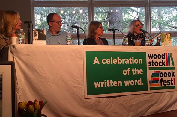 Martha Frankel interviews Dani Shapiro, Stephane Gerson, and Elizabeth Lesser at the Memoir-a Go-Go panel at Woodstock Bookfest.