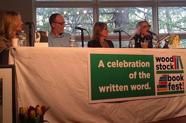 Martha Frankel interviews Dani Shapiro, Stephane Gerson, and Elizabeth Lesser at the Memoir-a Go-Go panel at Woodstock Bookfest.