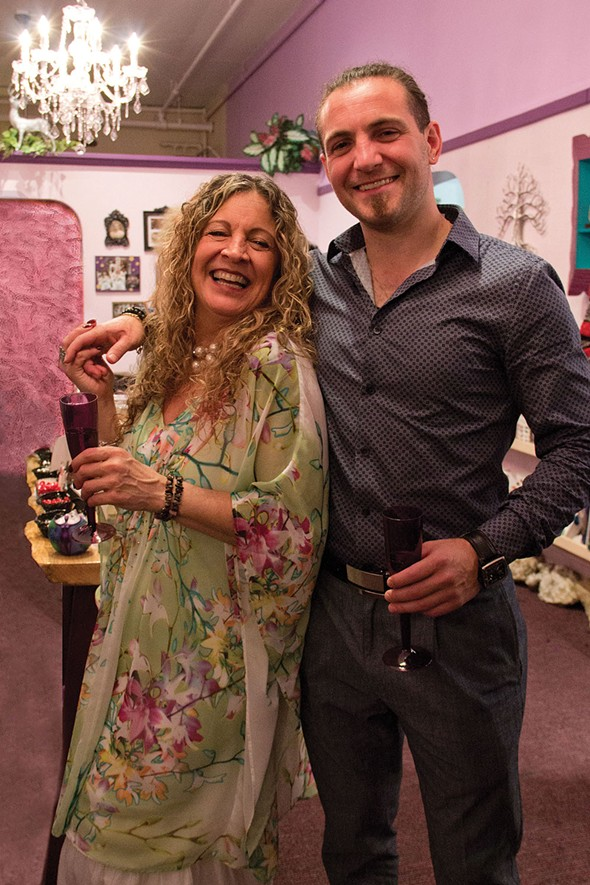 Rhianna Mirabello and her son Tyler at the 2016 grand opening of the expanded Dreaming Goddess in Poughkeepsie.