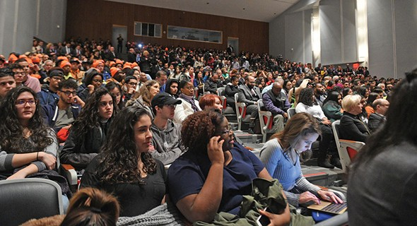 Governor Cuomo announced his Excelsior Scholarship to students and faculty at LaGuardia Community College in Queens on January 3.