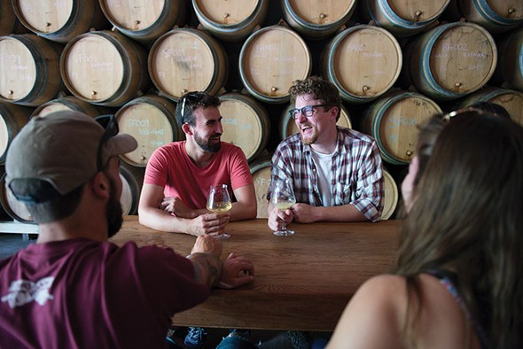 Inside the tasting room at Hudson Valley Brewery. - PHOTO BY CHRISTINE ASHBURN
