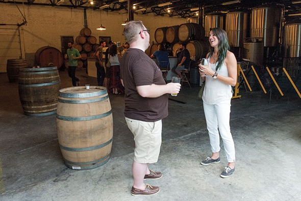 A recent Saturday afternoon at the brewery. - PHOTO BY CHRISTINE ASHBURN