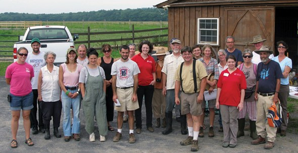 Participants in the Rondout Valley Growers Farmer to Farmer Pasture Walk.