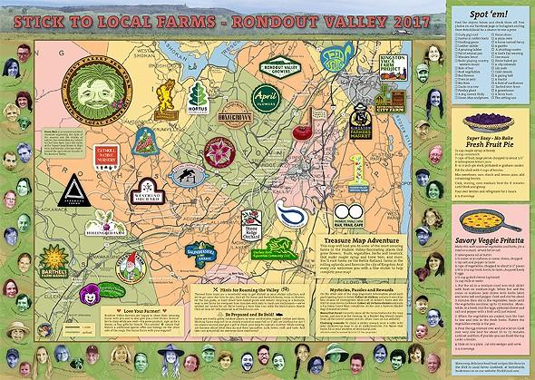 Maria Reidelbach's Stick to Local Farms map.