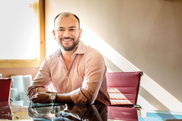 Developer Luis Martinez in his New Paltz office. - FRANCO VOGT