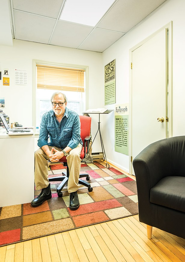 Publisher Paul Cohen in his office on East Market Street in Rhinebeck. - FRANCO VOGT