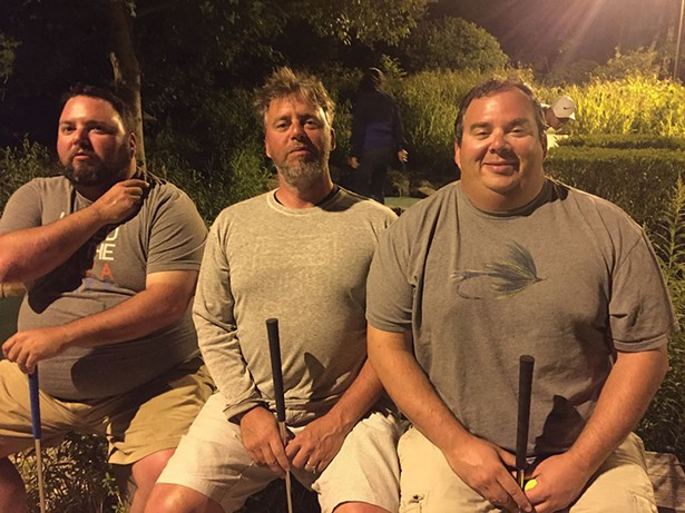 The brothers Mahoney at Harbor Lights Mini-Golf in Brewster, MA, on August 16.