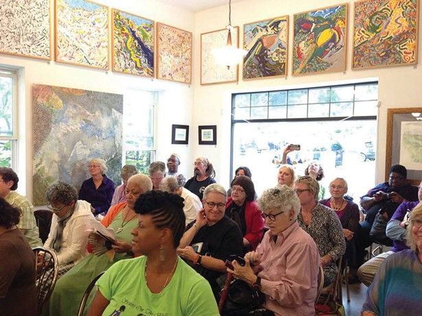 Flash readings at Liberty Rock Books in 2015. The Hobart Book Village's Fifth Annual Festival of Women Writers will be held September 8–10.