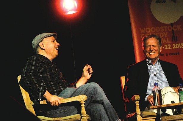 Bobcat Goldthwait interviewed by Dick Cavett at the 2013 Woodstock Comedy Festival.
