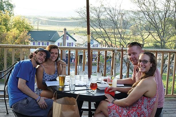 Rachel Buonfort, Charlie Versen, Antoinette Buonfort, and Tim Kelly at The Parish Restaurant - JOHN GARAY