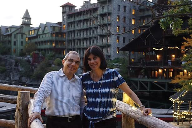 Danny and Rina Yellin at Mohonk Mountain House - JOHN GARAY