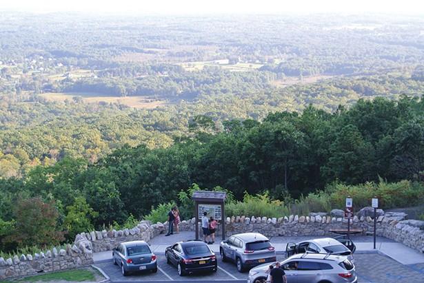 Scenic overlook in the Mohonk Preserve off Rt. 44/55 looking south toward New Paltz. - JOHN GARAY