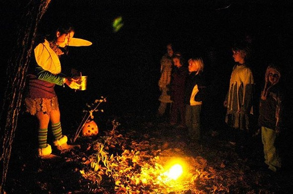 Children at Cara Cruickshank's Halloween Journey. - PHOTO COURTESY OF THE HALLOWEEN JOURNEY.