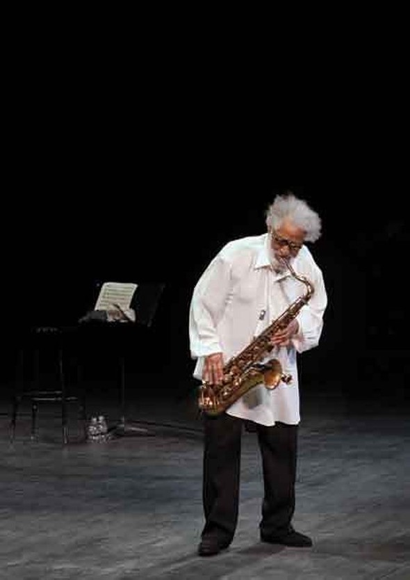 Sonny Rollins at NJPAC in 2011. - FIONN REILLY