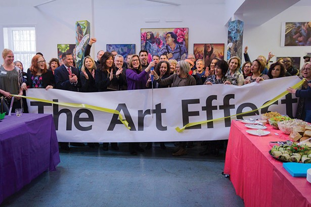 Dutchess County Executive Marcus Molinaro joined The Art Effect staff and supporters for the ribbon cutting in Poughkeepsie on December 15.