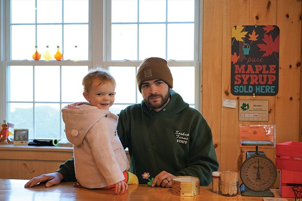 Mark Soukup with daughter Molly at Soukup Farms in Dover Plains. - JOHN GARAY