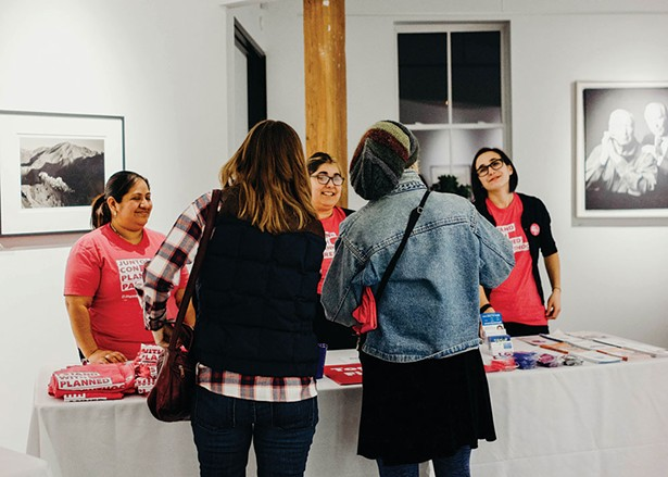The Planned Parenthood Mid-Hudson Valley street team. - ANNA VICTORIA
