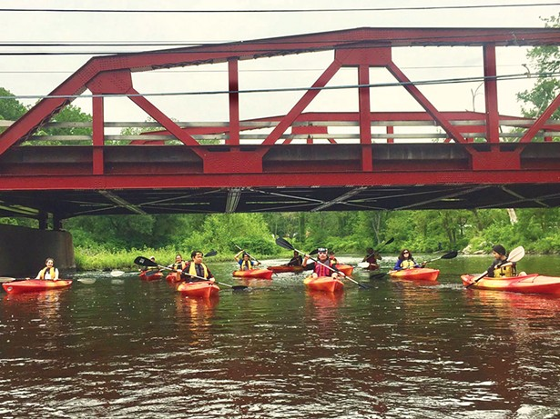 Kayaking the Moodna Creek with Storm King Adventure Tours.