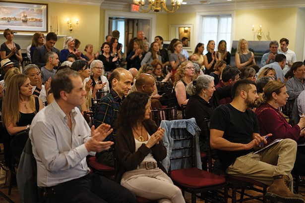 The audience at the Sustainable Entrepreneurship event at the Beekman Arms in Rhinebeck. - JOHN GARAY