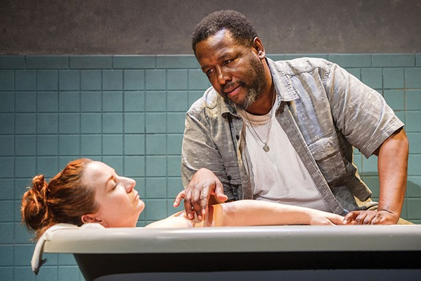 """Katy Sullivan and Wendell Pierce in 2016 Williamstown Theatre Festival production of """"The Cost of Living."""" - PHOTO BY DANIEL RADER"""