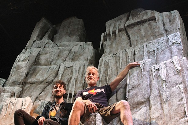 """Justin Pietropaolo and Conan McCarty on the set of """"K2"""" at Shadowland Stages, running June 1-17."""