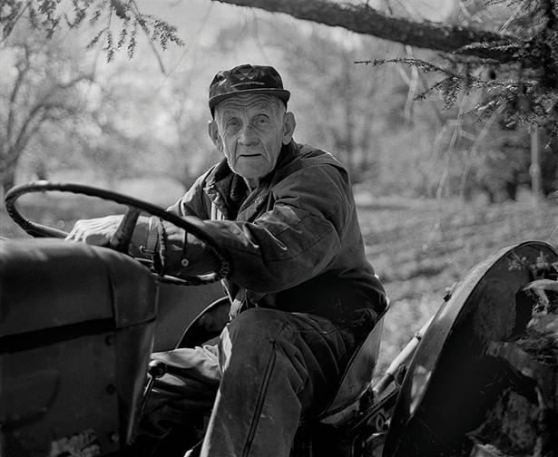"Claude Potts, Tivoli farmer, part of the exhibit ""Hudson Heritage: Joseph Squillante Photographs,"" at Greig Farm in Red Hook June 11-July 21."
