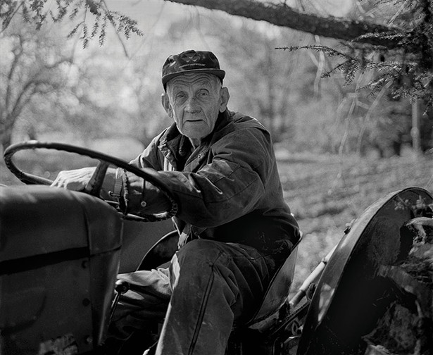 "Claude Potts, Tivoli farmer, part of the exhibit ""Hudson Heritage: Joseph Squillante Photographs,"" at Greig Farm in Red Hook June 11-July 21."