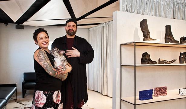 Kasuri owner Layla Kalin and creative director Jonathan Osofsky.