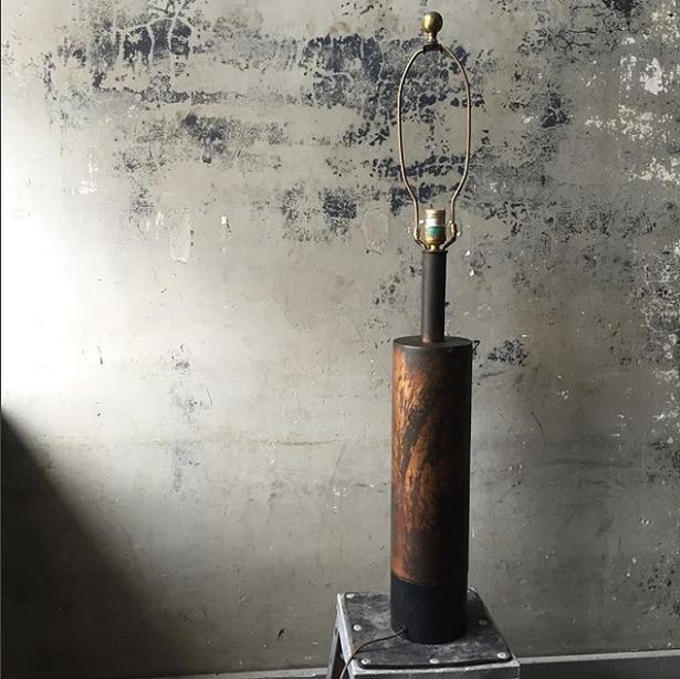 Mid-Century brass lamp