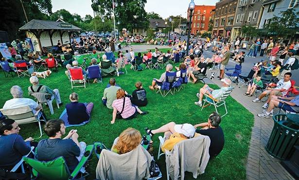 A Hudson Valley Jazz Festival performance on the Railroad Green in Warwick.
