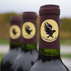 The Hudson Valley Cabernet Franc Coalition's bottle label.