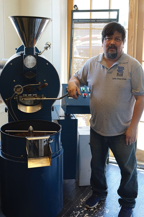 Michael Hom at Blue Stone Roasting Co. in Saugerties. - JOHN GARAY