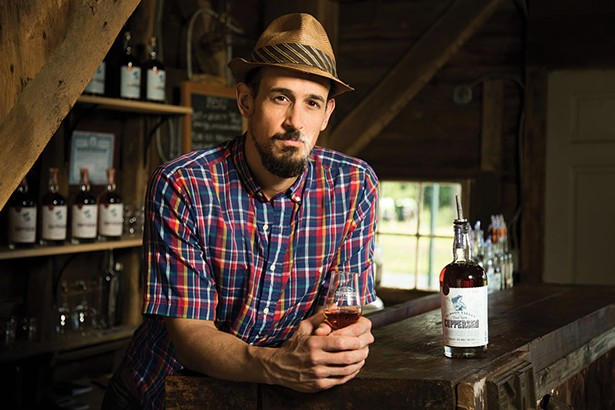 Christopher Williams, the chief distiller at Coppersea Distilling in New Paltz, and the mastermind of the Empire Rye campaign