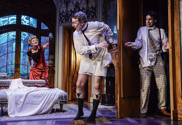 """Mercury Theater Colchester's 2017 production of """"Bang Bang!"""" John Cleese's adaptation of Feydeau's farce will be performed August 11 through September 9 at Shadowland Stages in a production directed by James Glossman and starring Sean Astin and Scott Shepherd."""