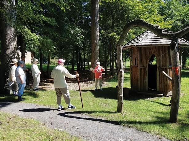 The healing hut at Mariandale Centerin Ossining.