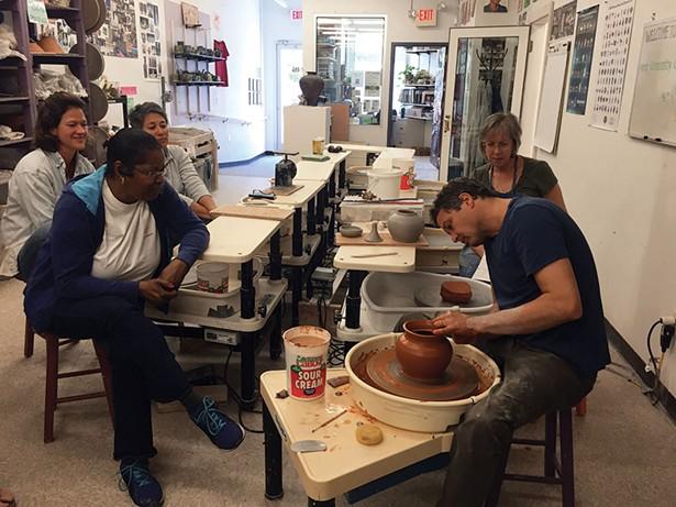 Teapot workshop at Mid-Hudson Heritage Center in Poughkeepsie.