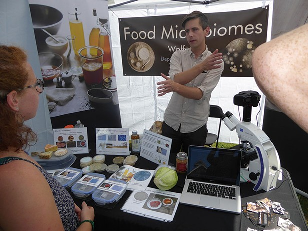 Benjamin Wolfe, a microbiologist at Tufts University, runs the Science Corner at the Berkshire Fermentation Festival in Great Barrington, which takes place September 16.