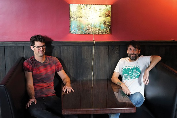 Morgan Coy and Cory Plump at Tubby's, a new bar and music venue in Midtown. - JOHN GARAY