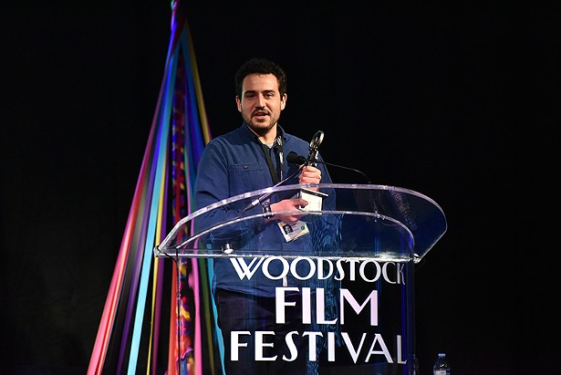 29-year-old director Alex Moratto - PHOTO BY JOHN MAZLISH, COURTESY OF WOODSTOCK FILM FESTIVAL.