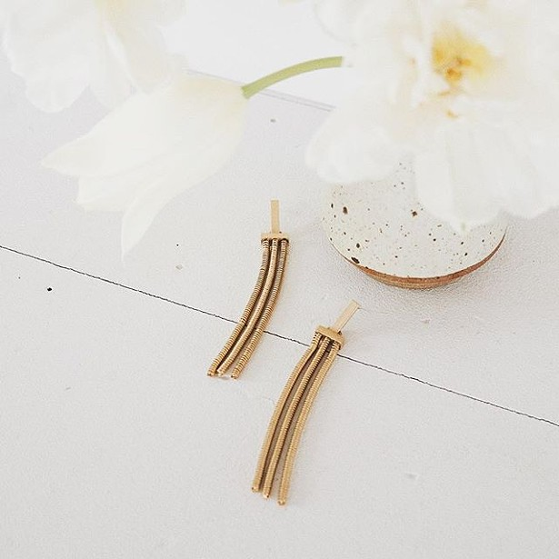 Undercurrent earrings by Sarah Golden