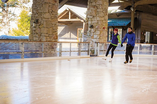 Ice skaters at Mohonk Mountain House